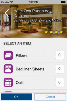 justrequest, Screenshot der App / iOS