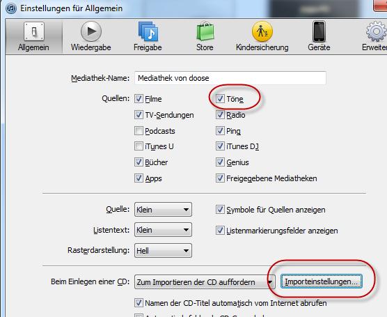 Screenshot: MP3-Datei als Klingelton für das iPhone