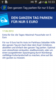 "Screenshot 4: Android App: ""Parken in Nürnberg"""
