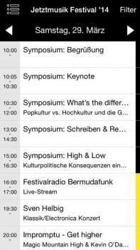 Jetztmusik-Festival Mannheim App Screenshot 1