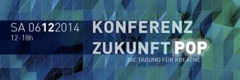 """Logo der """"Konferenz Zukunft Pop 2014"""" der Popakademie Baden-Württemberg"""