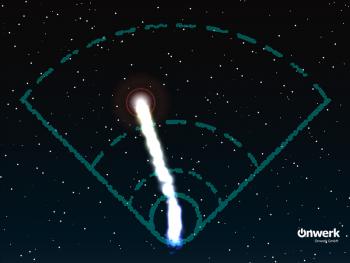 Mit einem Fingerwisch in der App geht der Komet auf die Reise. (Screenshot-iPad-App)