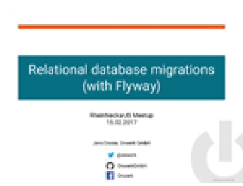"Talk: ""Relational database migrations (with Flyway)"""